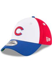 New Era Chicago Cubs Mens Blue 2018 All Star 39THIRTY Flex Hat