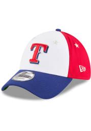New Era Texas Rangers Mens Navy Blue 2018 All Star 39THIRTY Flex Hat