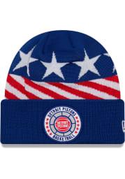 New Era Detroit Pistons Blue 2018 Tip Off Mens Knit Hat