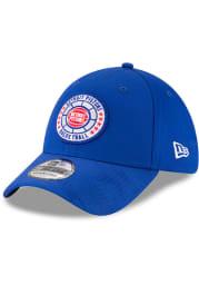 New Era Detroit Pistons Mens Blue 2018 Tip Off 39THIRTY Flex Hat