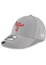 Rhys Hoskins Philadelphia Phillies 9FORTY Adjustable Hat - Grey