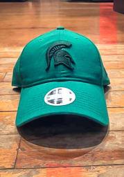 New Era Michigan State Spartans Green Tonal Linen LS 9TWENTY Womens Adjustable Hat