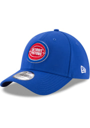 New Era Detroit Pistons Mens Blue Team Classic 39THIRTY Flex Hat