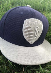 New Era Sporting Kansas City Mens Navy Blue 2T 59FIFTY Fitted Hat