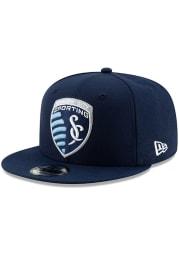 New Era Sporting Kansas City Navy Blue Basic 9FIFTY Mens Snapback Hat