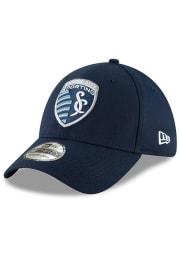 New Era Sporting Kansas City Mens Navy Blue Basic 39THIRTY Flex Hat