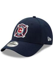 New Era Chicago Fire Basic 9FORTY Adjustable Hat - Navy Blue