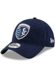 New Era Sporting Kansas City Basic 9TWENTY Adjustable Hat - Navy Blue
