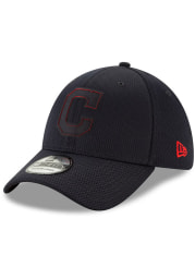 New Era Cleveland Indians Navy Blue 2019 Clubhouse JR 39THIRTY Youth Flex Hat