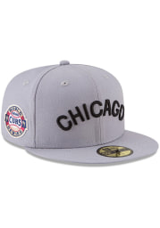 New Era Chicago Cubs Mens Grey 1907 World Series Side Patch 59FIFTY Fitted Hat