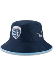 New Era Sporting Kansas City Navy Blue JR Hex Team Youth Bucket Hat