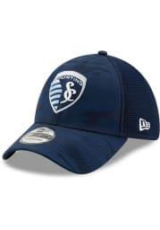 New Era Sporting Kansas City Mens Navy Blue Camo Front Neo 39 THIRTY Flex Hat
