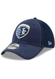New Era Sporting Kansas City Mens Navy Blue Classic Shade Neo 39THIRTY Flex Hat