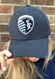 New Era Sporting Kansas City Mens Grey Neo 39THIRTY Flex Hat