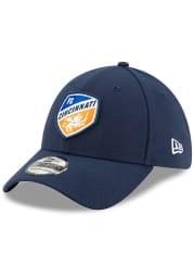 New Era FC Cincinnati Mens Navy Blue Basic 39THIRTY Flex Hat