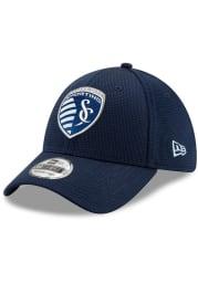 New Era Sporting Kansas City Mens Navy Blue 2019 Official 39THIRTY Flex Hat