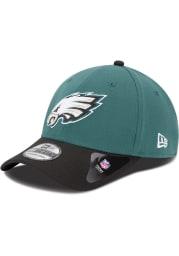 New Era Philadelphia Eagles Midnight Green Jr Team Classic 39THIRTY Youth Flex Hat