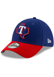 New Era Texas Rangers Mens Blue Batting Practice 2019 39THIRTY Flex Hat