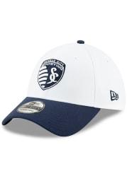 New Era Sporting Kansas City Mens Navy Blue MLS 2019 Pride Celebration 39THIRTY Flex Hat