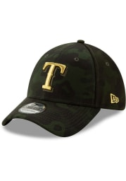 New Era Texas Rangers Mens Green 2019 Armed Forces Day 39THIRTY Flex Hat