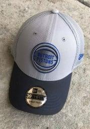 New Era Detroit Pistons Grey JR Gray Neo 39THIRTY Youth Flex Hat
