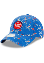 New Era Detroit Pistons Blue Blossom 9TWENTY Womens Adjustable Hat