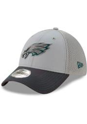 New Era Philadelphia Eagles Grey JR Gray Neo 39THIRTY Youth Flex Hat