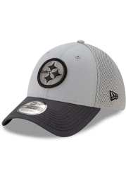 New Era Pittsburgh Steelers Grey JR Gray Neo 39THIRTY Youth Flex Hat