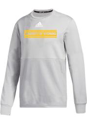 Wyoming Cowboys Mens Grey Team Issue Long Sleeve Crew Sweatshirt