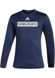 Florida Atlantic Owls Mens Navy Blue Team Issue Long Sleeve Crew Sweatshirt
