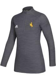 Wyoming Womens Grey Game Mode 1/4 Zip Pullover