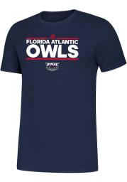 Florida Atlantic Owls Navy Blue Amplifier Short Sleeve T Shirt