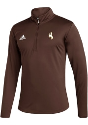 Wyoming Cowboys Mens Brown Under the Lights Long Sleeve 1/4 Zip Pullover