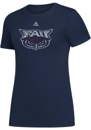 Florida Atlantic Owls Womens Navy Blue Amplifier Short Sleeve T-Shirt