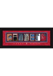 Texas Rangers 8x20 letter art Framed Posters