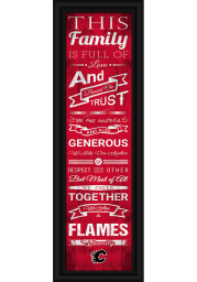 Calgary Flames 8x24 Framed Posters