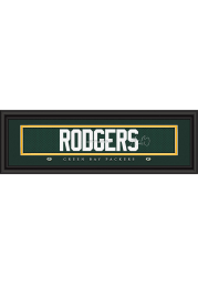 Aaron Rodgers Green Bay Packers 8x24 Signature Framed Posters
