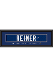 James Reimer Toronto Maple Leafs 8x24 Signature Framed Posters