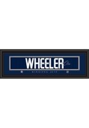 Blake Wheeler Winnipeg Jets 8x24 Signature Framed Posters