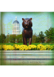 Missouri Tigers Tiger Statue Stone Tile Coaster
