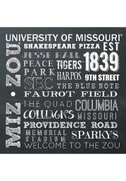 Missouri Tigers Chalkboard Stone Tile Coaster