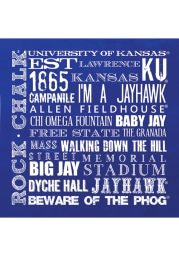 Kansas Jayhawks Chalkboard Stone Tile Coaster
