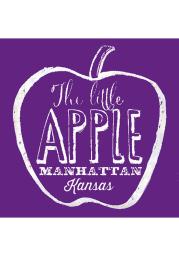 Manhattan Little Apple Stone Tile Coaster