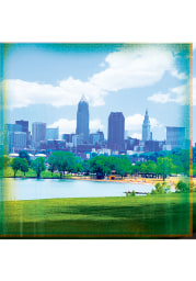 Cleveland Edgewater View Stone Tile Coaster