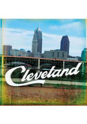Cleveland Sign Stone Tile Coaster