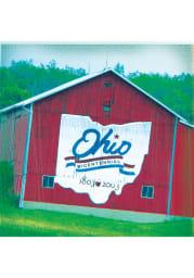 Cleveland Ohio Bicentennial Barn Stone Tile Coaster