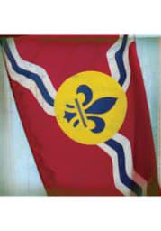 St Louis Flag Stone Tile Coaster
