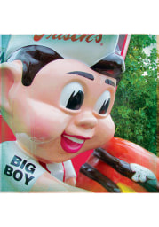Cincinnati Big Boy Statue 4x4 Coaster