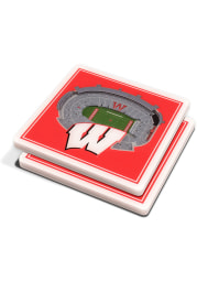 Wisconsin Badgers 3D Stadium View Coaster