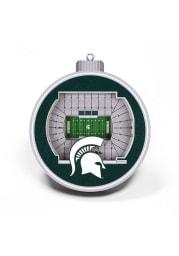 Michigan State Spartans 3D Stadium View Ornament